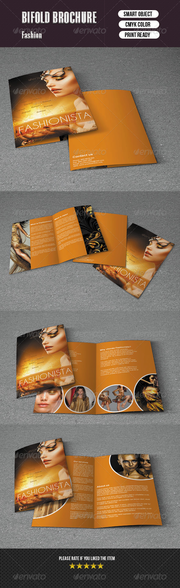 Bifold Brochure For Fashion
