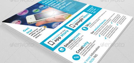 Mobile app store flyer
