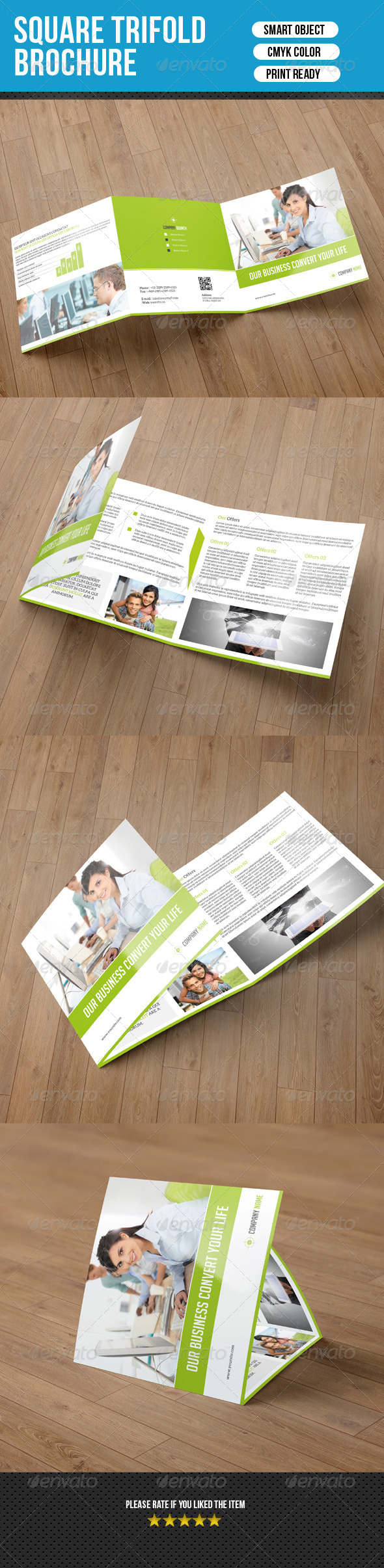 Square Trifold Brochure-Business
