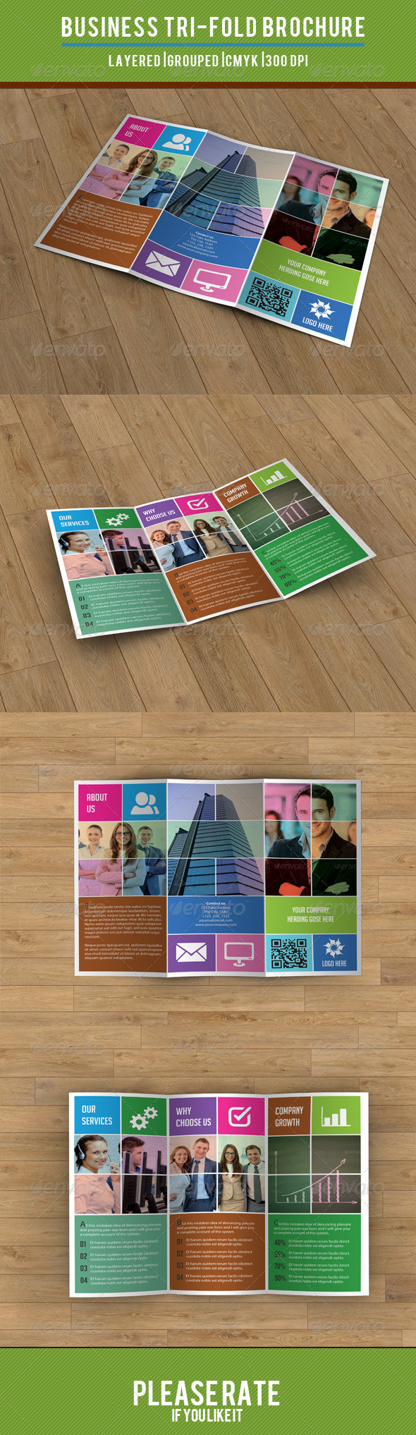 Metro Style Business Trifold-V23