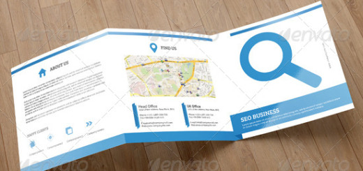 Square Trifold for SEO Business-V08