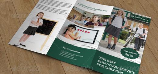 Kids School-Trifold-Brochure