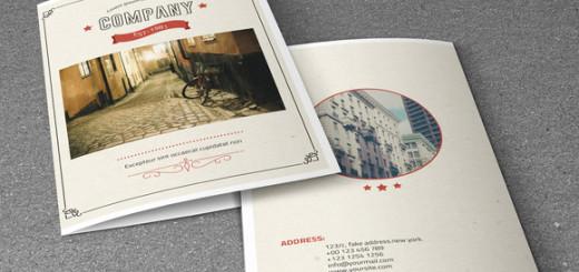 Retro-style-corporate-brochure