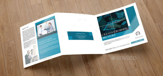 Corporate Square Trifold Brochure-V73