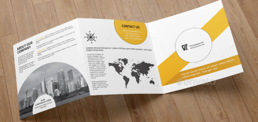 Corporate Square Trifold Brochure-V74