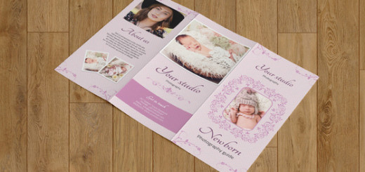 Newborn photography brochure