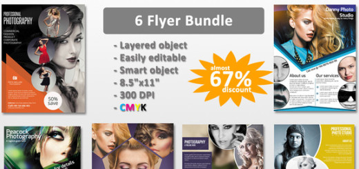 Photography flyer bundle-6 flyer
