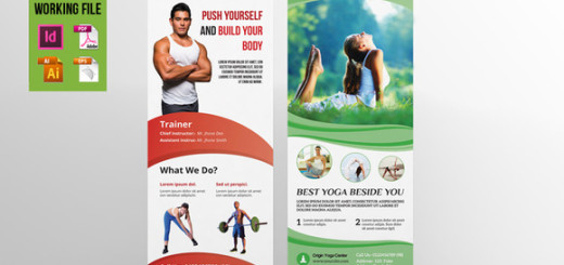 Fitness & Yoga Center rollup-V02