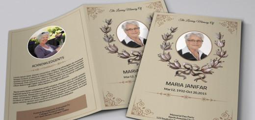 Funeral Program Template  Sistec