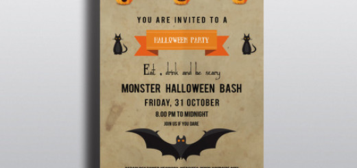 Halloween Party flyer template-V94