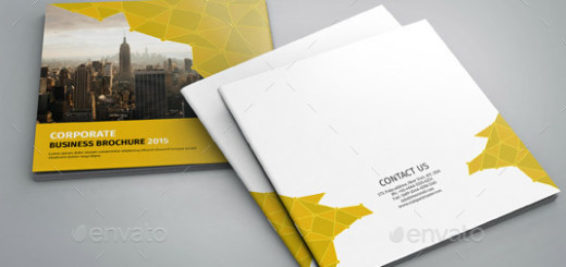 Corporate Square Bifold Brochure-V75