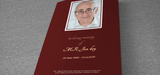 Funeral Program Template-T201