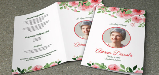 Funeral Program Template  Sistec