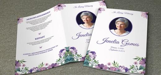 Funeral Program Template-V225