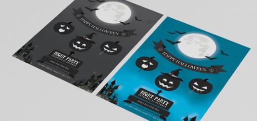 Halloween flyer template -V100