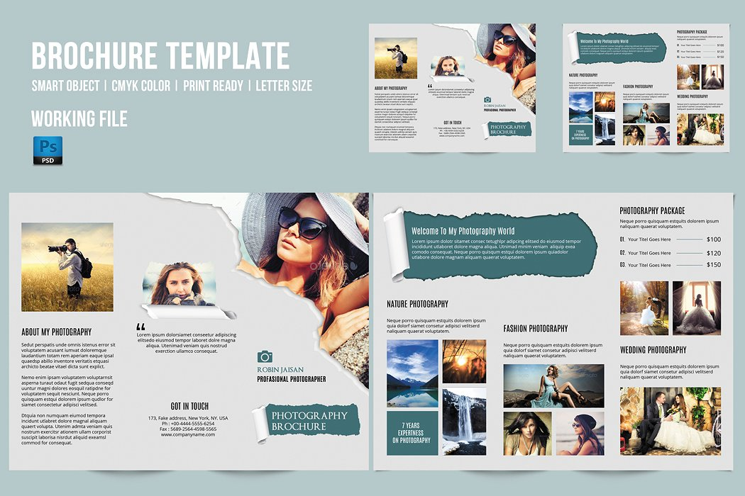 Photography Brochure Template Sistec