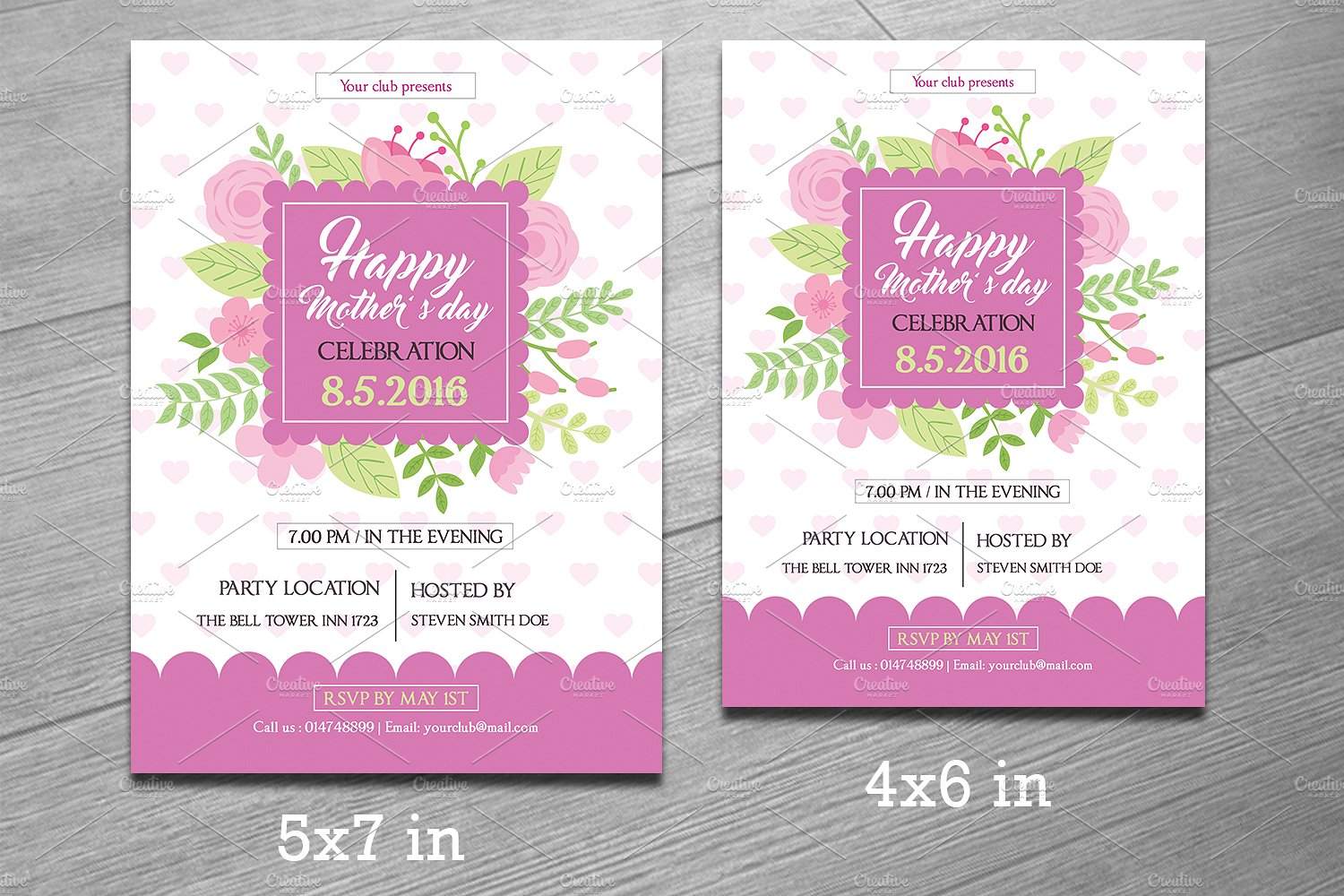 mother s day flyer template sistec