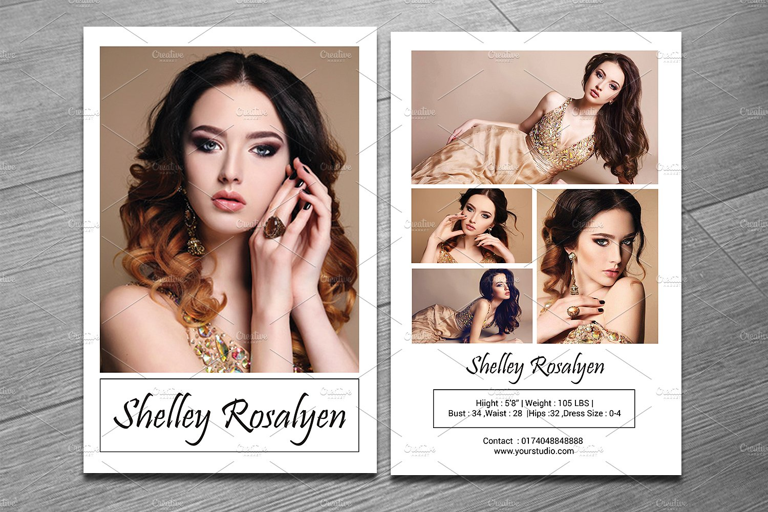 Modeling Comp Card Template - SiStec Intended For Comp Card Template Psd