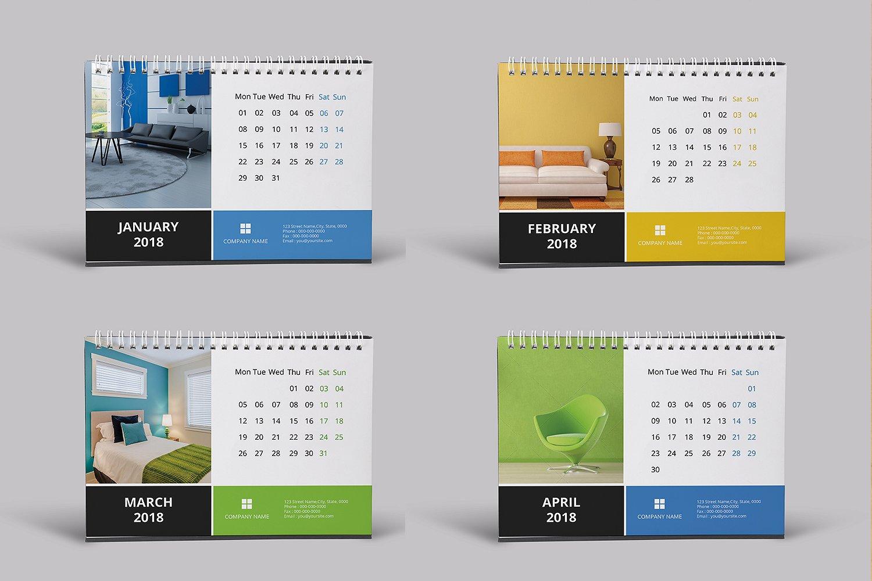 Desk Calendar Template 2018 - SiStec