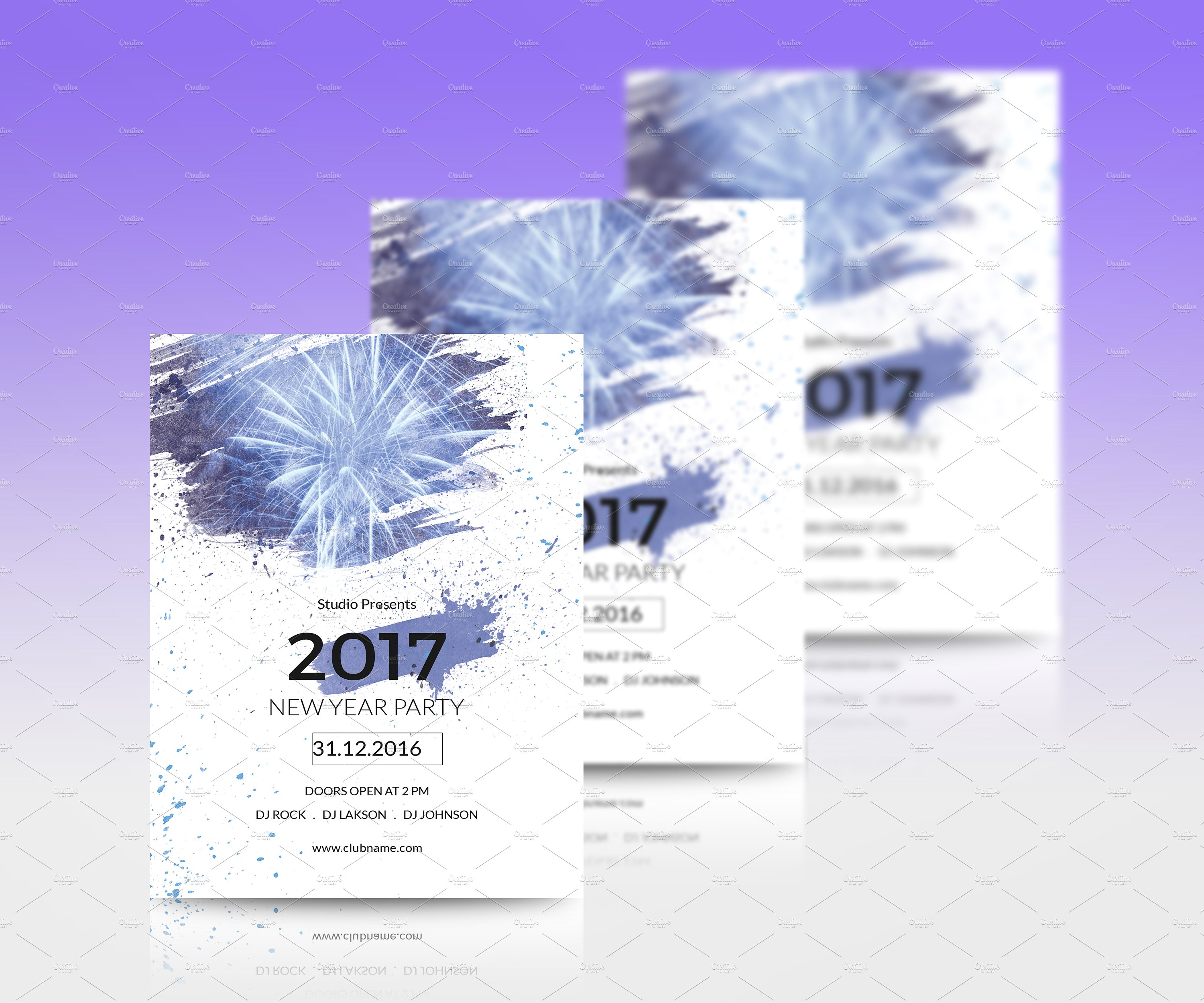 New Year Party Flyer Template - SiStec