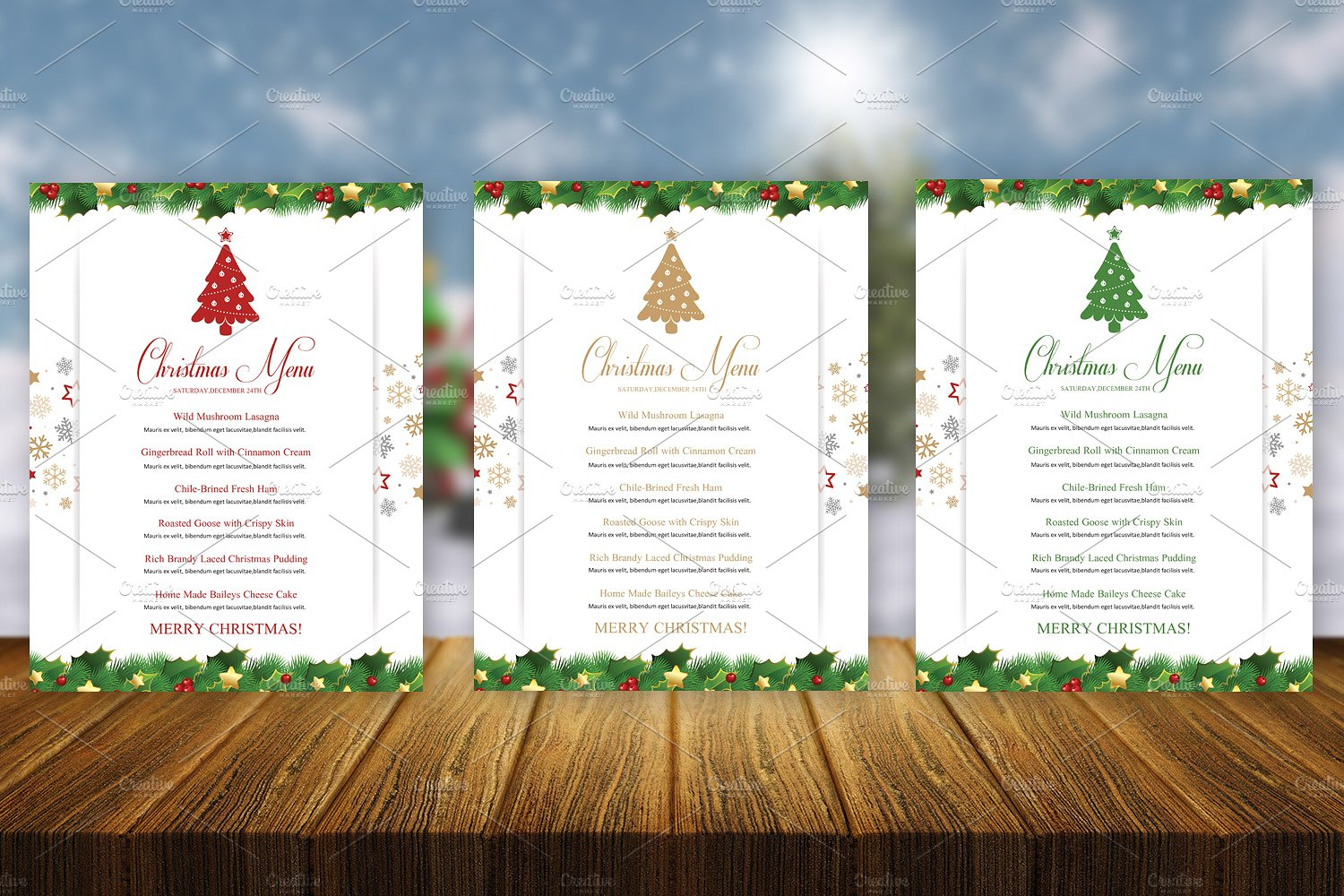 Christmas Menu Template Sistec