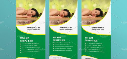 Spa Beauty Roll Up Banner Template Archives Sistec